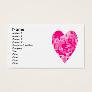Cartes De Visite Affaires roses Girly ou télécartes de coeur