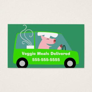 Cartes De Visite Affaires végétariennes de la livraison de repas