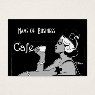 Cartes De Visite Affaires vintages de café-restaurant de café d'art