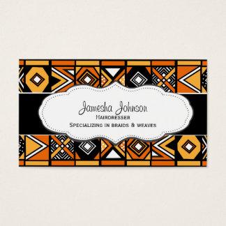 Cartes de visite africains de motif