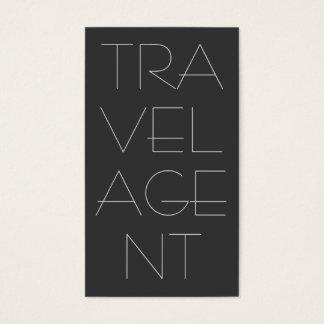 Cartes De Visite Agent de voyage gris contemporain