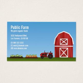 Cartes De Visite Agriculteur de légume de ferme