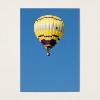 Cartes De Visite Air-ballon en ciel bleu