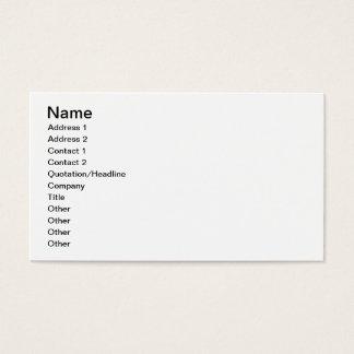 Cartes De Visite Alpha nom et logo de livre par pouce carré de