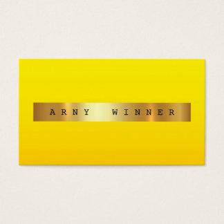 Cartes De Visite Aluminium d'or jaune fascinant de VIP Ombre VIP