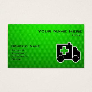 Cartes De Visite Ambulance ; Vert