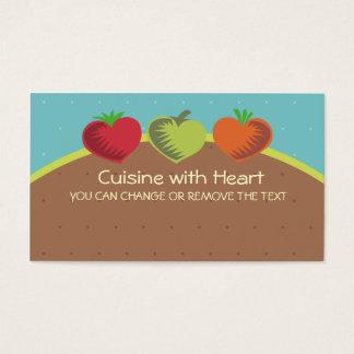 Cartes De Visite amour de jardinage dinant sain de légumes de