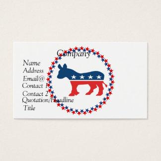 Cartes De Visite Âne de Démocrate