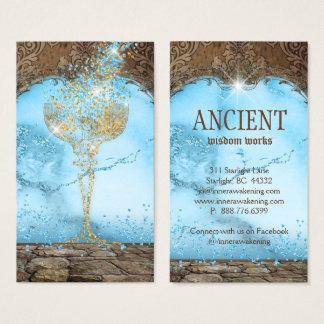 Cartes De Visite Antiquité antique de cru de tasse de calice de