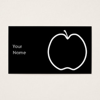 Cartes De Visite Apple blanc décrivent