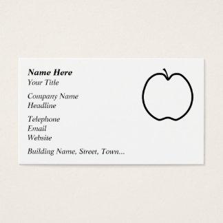 Cartes De Visite Apple noir et blanc