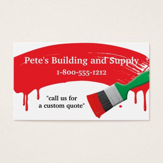 Cartes De Visite Approvisionnement Batiment Et Peinture
