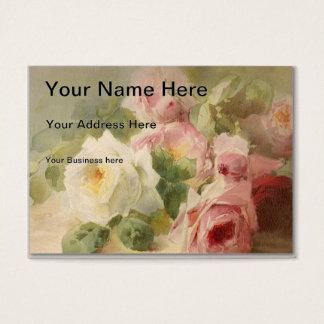 Cartes De Visite Aquarelle rose victorienne vintage