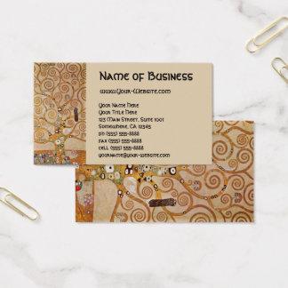 Cartes De Visite Arbre de la vie par Klimt, symbole stylisé de