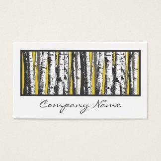 Cartes De Visite arbres de tremble