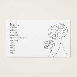 Cartes De Visite Arbres minimalistes