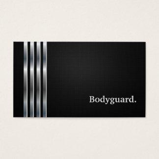 Cartes De Visite Argent noir professionnel de garde du corps