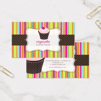 Cartes De Visite Arrière - plan/petit gâteau de PixDezines