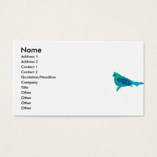 Cartes De Visite Art animal mignon moderne d'oiseau bleu de