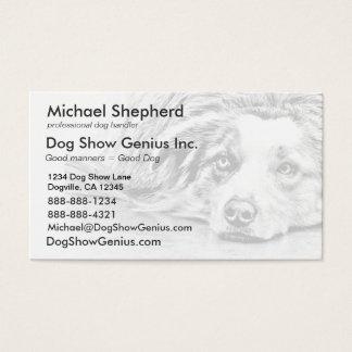 Cartes De Visite Art australien de chien de berger