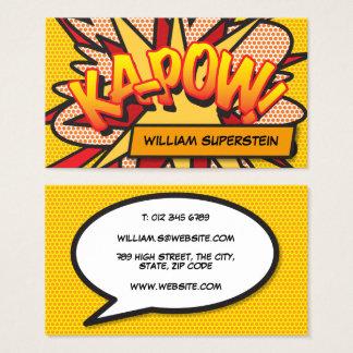 Cartes De Visite Art de bruit personnalisé de bande dessinée KA-POW