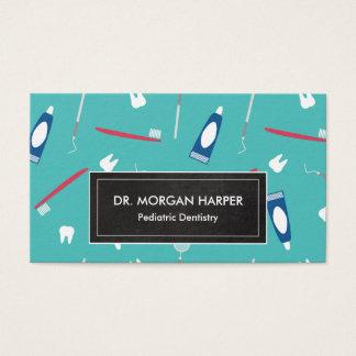 Cartes De Visite Art dentaire pédiatrique du motif | d'outils de