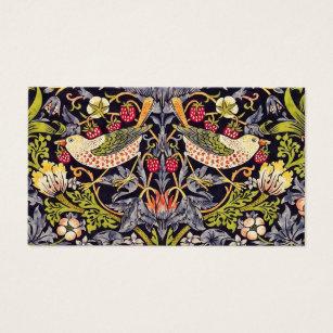 Cartes De Visite Art floral Nouveau de voleur de fraise de William