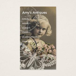 Cartes De Visite Art numérique vintage de petite fille