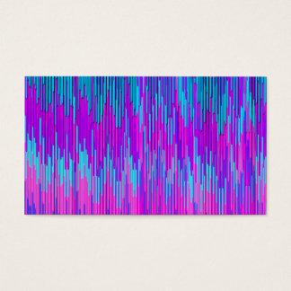 Cartes De Visite Art turquoise rose au néon à la mode de motif de