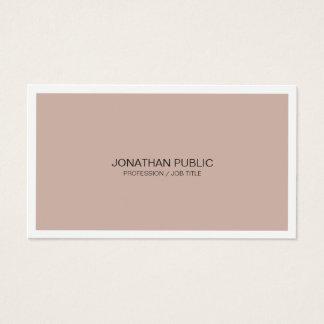 Cartes De Visite Artistique moderne de conception chic harmonique
