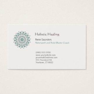 Cartes De Visite Arts curatifs et logo curatif naturel de cercle