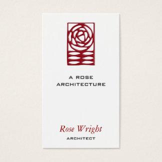 Cartes De Visite Arts roses et ornement de métiers