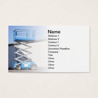 Cartes De Visite ascenseur ou plate-forme de ciseaux