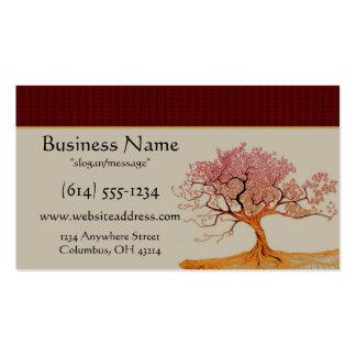 Cartes de visite asiatiques d'arbre de fleurs de c modèle de carte de visite