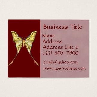 Cartes de visite assez jaunes de papillon