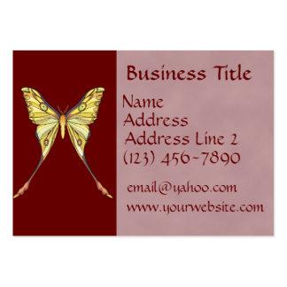 Cartes de visite assez jaunes de papillon carte de visite grand format