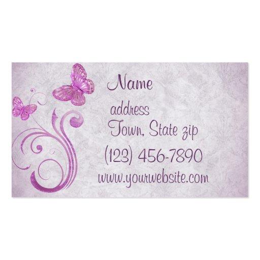 Cartes de visite assez roses de papillons cartes de visite professionnelles