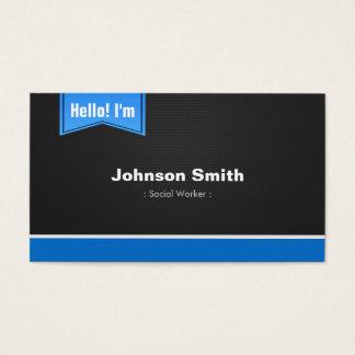 Cartes De Visite Assistant social - bonjour contactez-moi