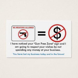Cartes De Visite Aucune arme à feu, aucun argent