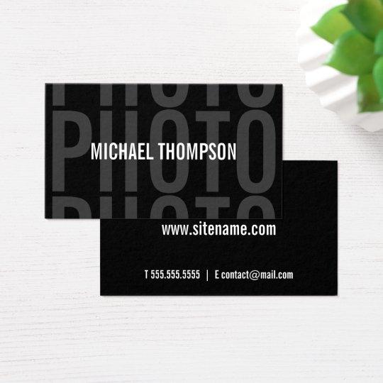 Cartes De Visite Audacieux moderne professionnel de photographe