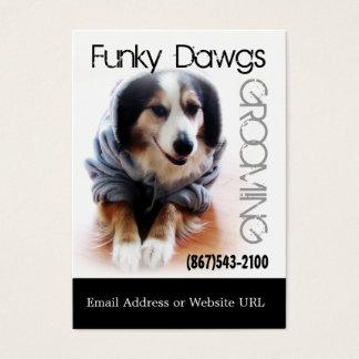 Cartes De Visite Australien de toilettage de chien frais dans le