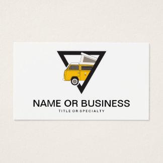 Cartes De Visite autobus jaune classique de triangle