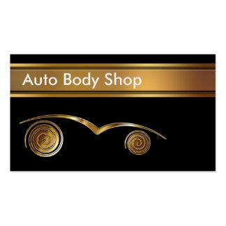 Cartes de visite automatiques de Body Shop Modèles De Cartes De Visite