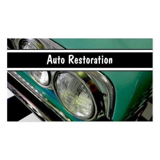 Cartes de visite automatiques de restauration cartes de visite personnelles