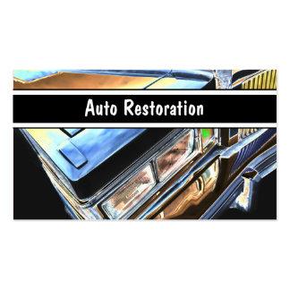 Cartes de visite automatiques de restauration carte de visite