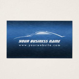 Cartes De Visite Automobile bleue fraîche des véhicules à moteur de
