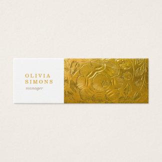 Cartes de visite avec la copie d'or en métal