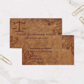Cartes De Visite Avocat de cuir de relief