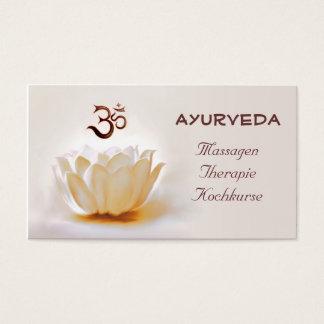 Cartes De Visite Ayurveda