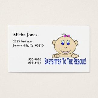 Cartes De Visite Babysitter à la délivrance